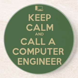 Keep Calm Computer Engineer Coaster