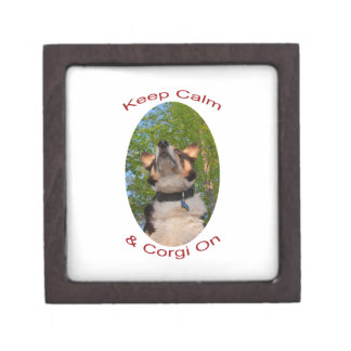 Keep Calm & Corgi On Keepsake Box