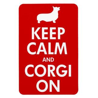 Keep Calm Corgi On Large Car Magnet