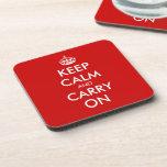 Keep calm cork coaster set | Customizable template