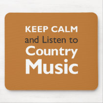 Keep Calm Country Mouse Pad