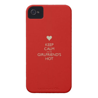 Keep Calm Coz My Girlfriends Hot iPhone 4 Case