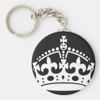 keep calm crown design create your own basic round button keychain