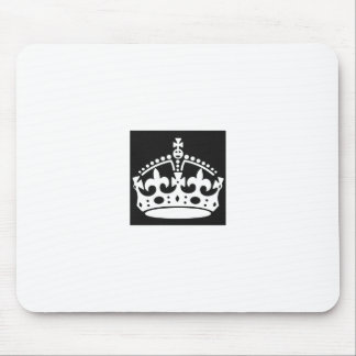 keep calm crown design create your own mouse pad