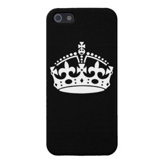 Keep Calm Crown Design on Solid Black Case For iPhone SE/5/5s