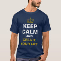 KEEP CALM & Crown gold   your own text T-Shirt