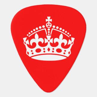 Keep Calm Crown Guitar Pick