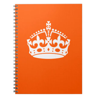 KEEP CALM CROWN Icon on Orange Customize This Notebook