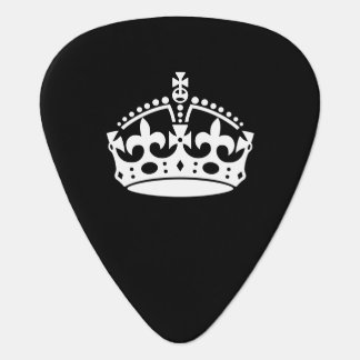 KEEP CALM CROWN on Black Customize This! Guitar Pick