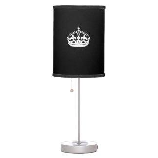 KEEP CALM CROWN on Black Decor Desk Lamp