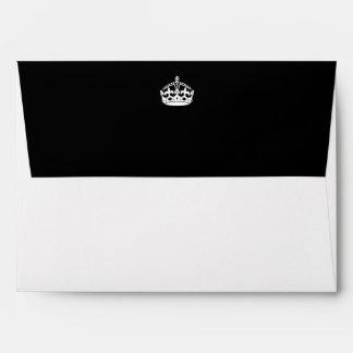 Keep Calm Crown on Black Envelope