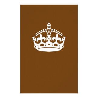 Keep Calm Crown on Chocolate Brown Flyer