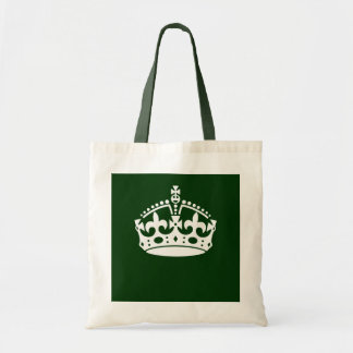 KEEP CALM CROWN on Forest Green Customize This Tote Bag