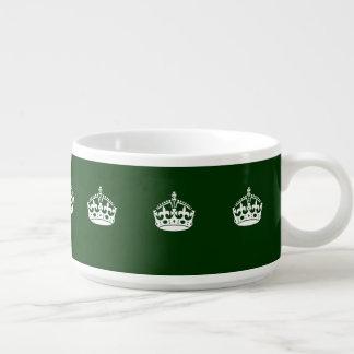 Keep Calm Crown on Green Decor Bowl