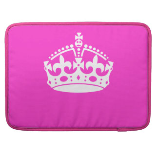KEEP CALM CROWN on Hot Pink Customize This! Sleeve For MacBook Pro