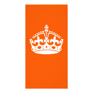 KEEP CALM CROWN on Orange Customize This Card