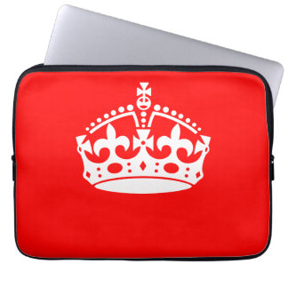 KEEP CALM CROWN on Red Customize This! Computer Sleeves