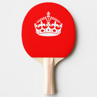 KEEP CALM CROWN on Red Customize This! Ping Pong Paddle
