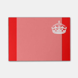KEEP CALM CROWN on Red Customize This! Post-it® Notes