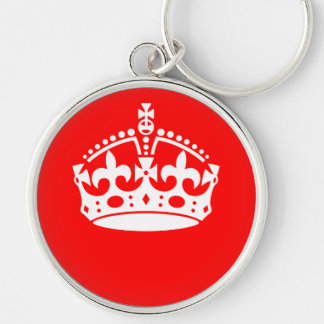 KEEP CALM CROWN on Red Decor Keychain