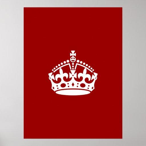 Keep Calm Crown Print