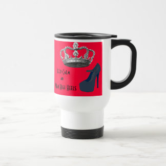 Keep Calm Crown Red Background 15 Oz Stainless Steel Travel Mug