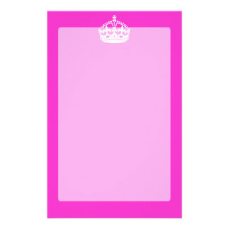 KEEP CALM CROWN Royal Icon on Pink Customize it Stationery
