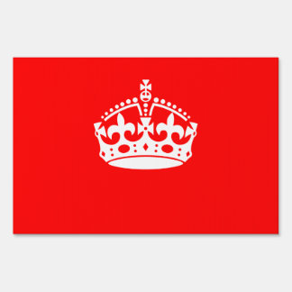 KEEP CALM CROWN Symbol on Fire Red Customize it Sign