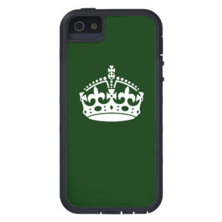 Keep Calm Crown Symbol on Forest Green iPhone SE/5/5s Case
