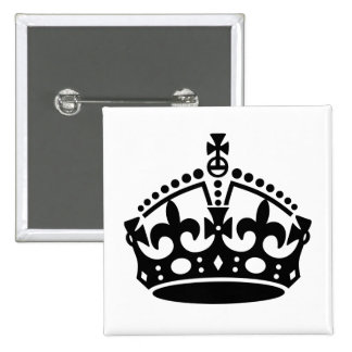 Keep Calm Crown Template Pinback Button