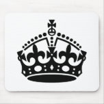 Keep Calm Crown Template Mouse Pad