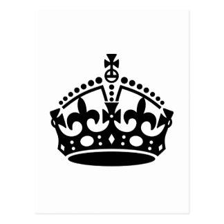 Keep Calm Crown Template Postcard