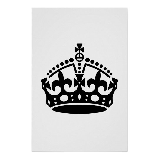 Keep Calm Crown Template Poster | Zazzle.com