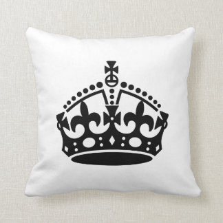Keep Calm Crown Template Throw Pillow