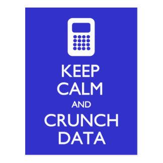 Keep Calm Crunch Data postcard