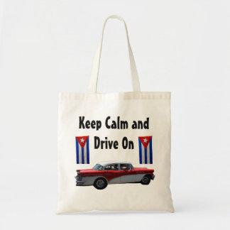 Keep Calm Cuba Car Tote Bag