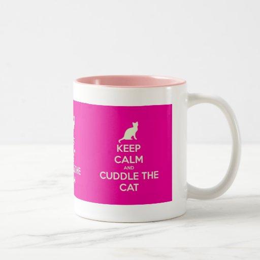 Keep Calm & Cuddle The Cat Coffee Mugs