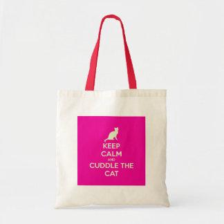 Keep Calm & Cuddle The Cat Tote Bag