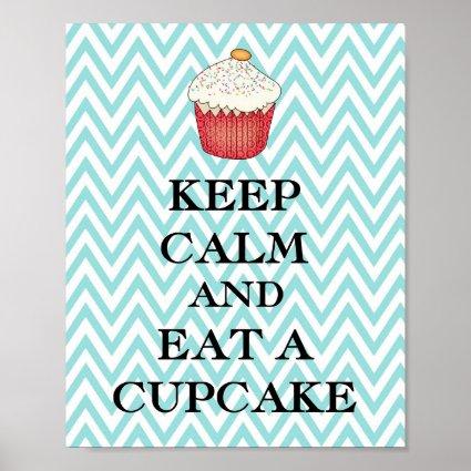Keep Calm Cupcake Poster