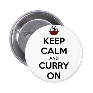 keep calm curry on button