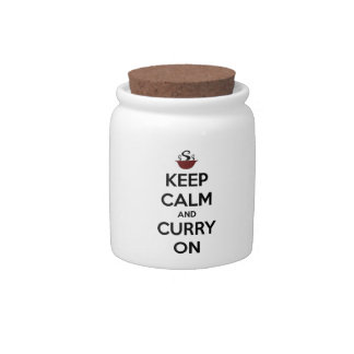 keep calm curry on candy dish