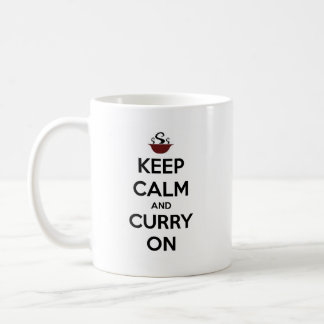keep calm curry on coffee mug