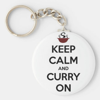 keep calm curry on keychain