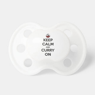 keep calm curry on pacifier