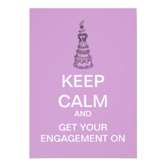 Keep Calm Custom Bridal Engagement Invitation