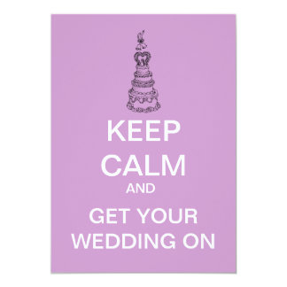 Keep Calm Custom Bridal Party Invitation