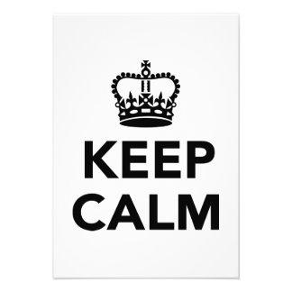 Keep calm custom invites