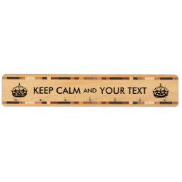 Keep Calm Custom Text Key Rack Add Your Own Words