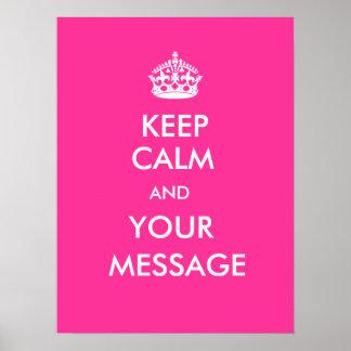 Keep Calm CustomizeABLEs Poster