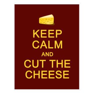 Keep Calm & Cut The Cheese postcard, customize Postcard